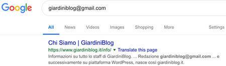 google ricerca e verifica email