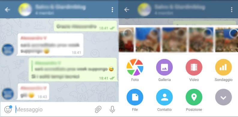 scambio file telegram