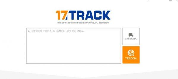 Tracciare pacchi:17track
