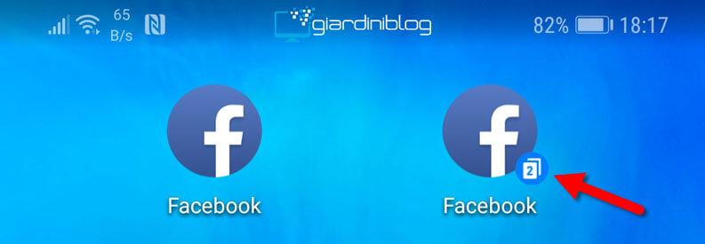 app gemella clonata facebook due account