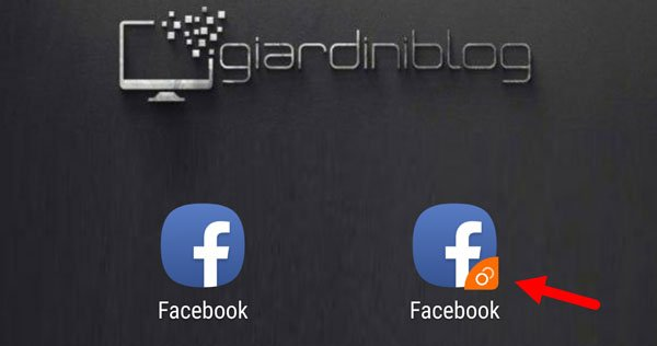 app clonata facebook due account