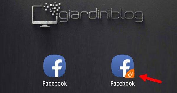 app clonata facebook due account