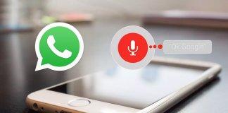inviare messaggi whatsapp con ok google