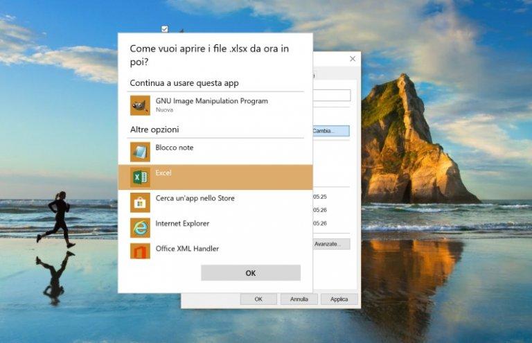 Come cambiare programma predefinito per aprire un file