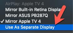 apple tv come monitor separato