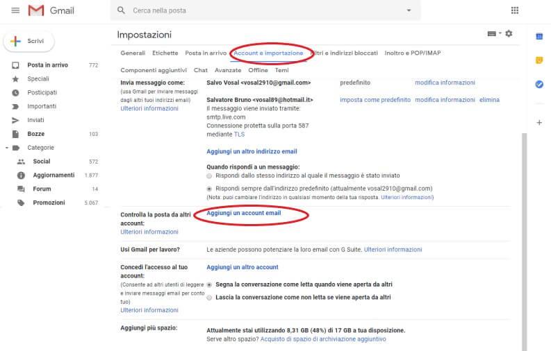 PEC con Gmail: desktop
