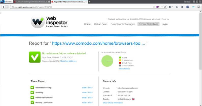Browser leggero: comodo Ice dragon