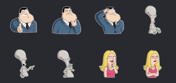 american dad sticker