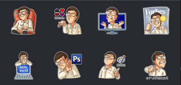 bill gates sticker telegram