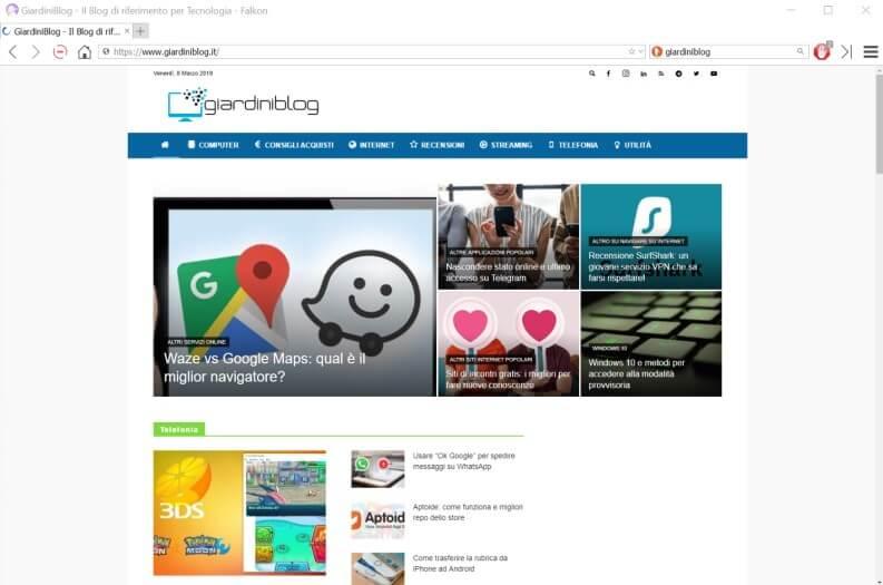 Falkon browser web