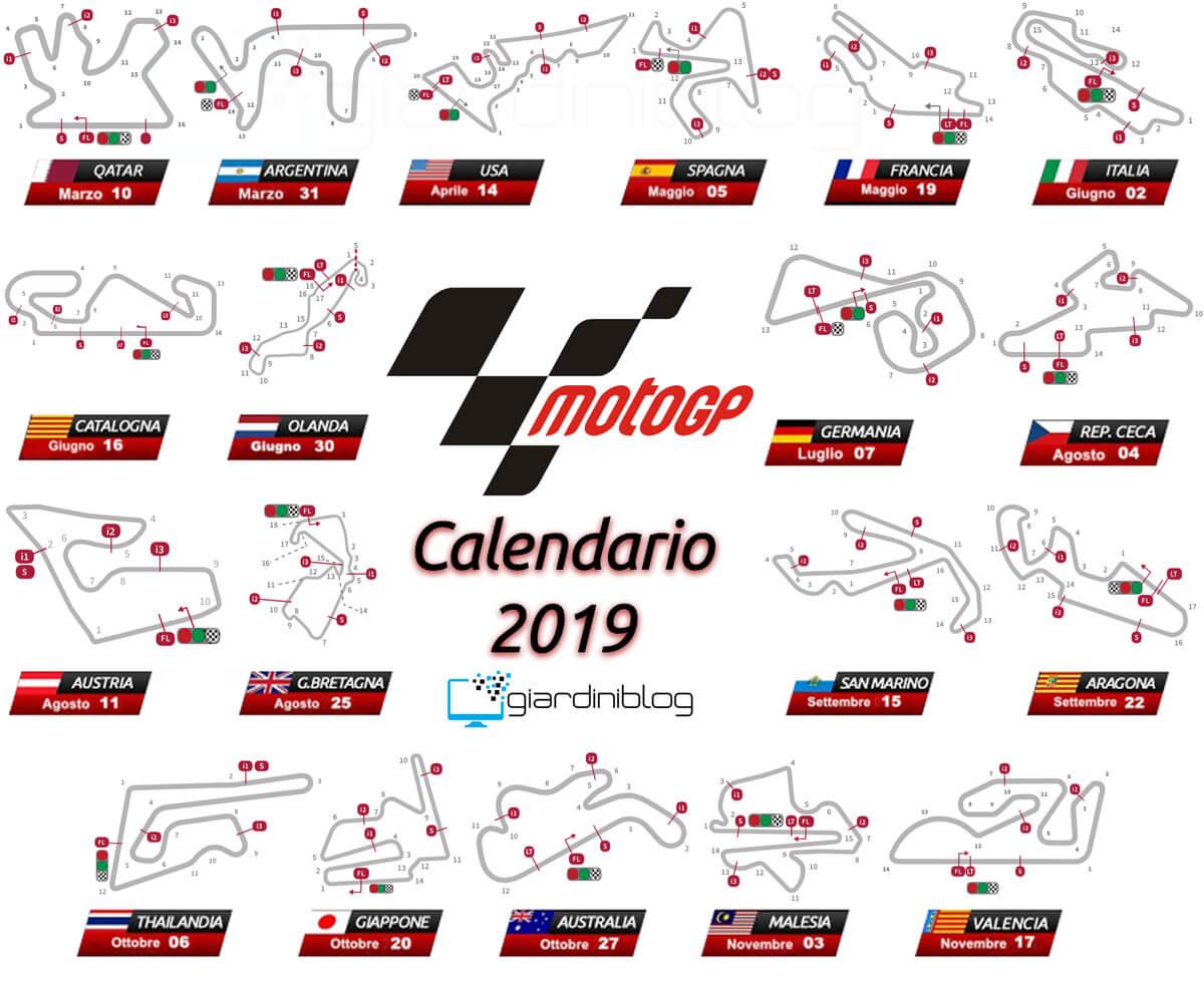 calendario motogp 2019 circuiti