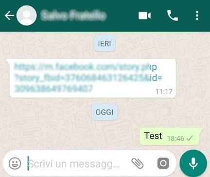 contatto bloccato su Whatsapp
