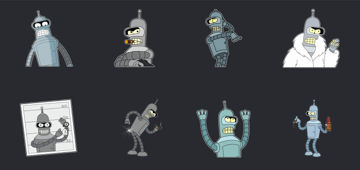 futurama sticker