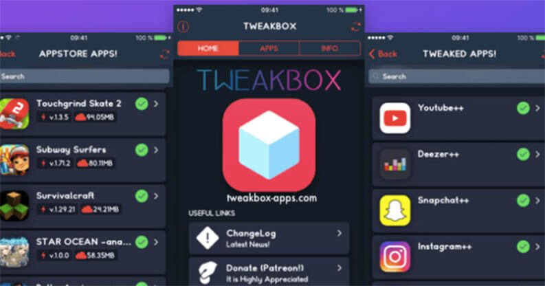 Store alternativi iOS: Tweakbox