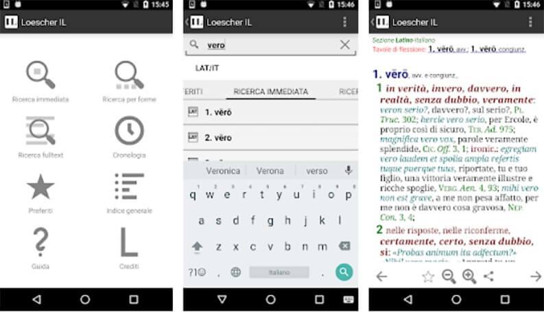 App dizionario latino