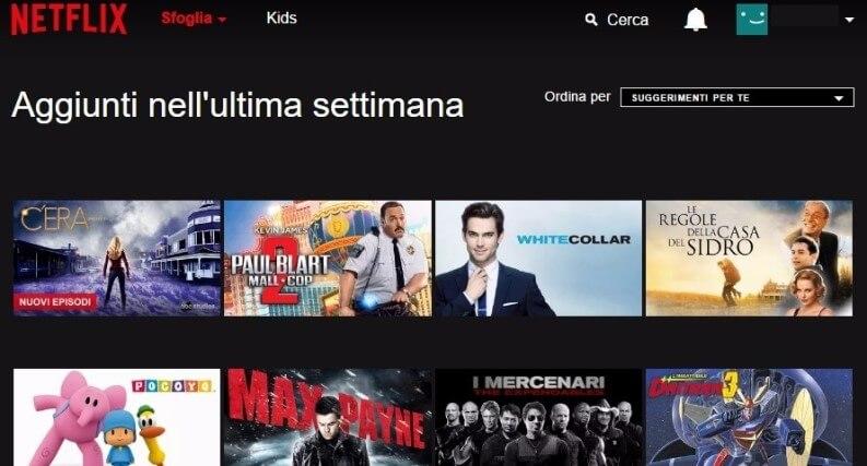Monitorare aggiornamenti catalogo Netflix