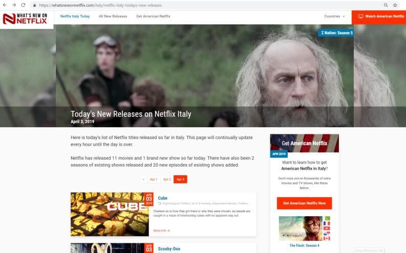 Monitorare aggiornamenti catalogo Netflix: Whatsnewonnetflix