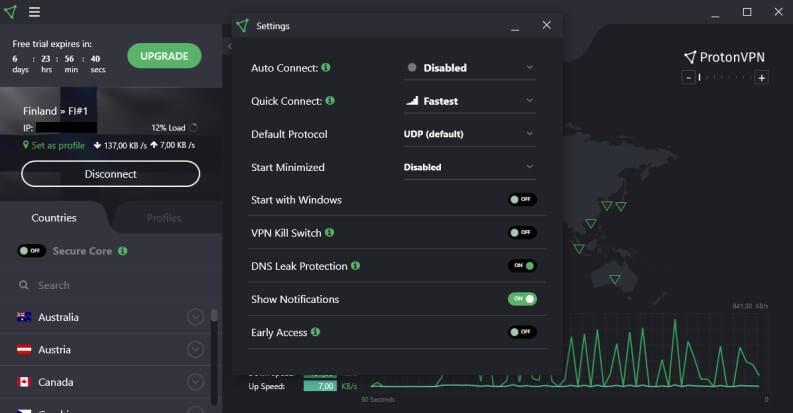 VPN gratis: ProtonVPN