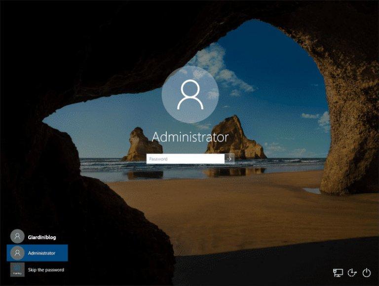 Come accedere da amministratore su Windows 10