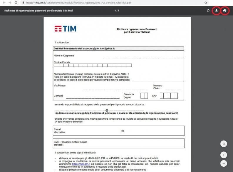 Problemi con Alice Mail e TIM mail modulo