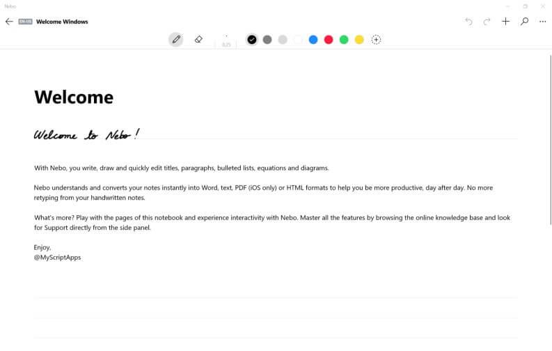 App per prendere appunti: Nebo