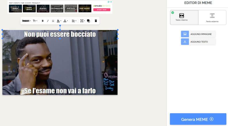 creare meme con siti online
