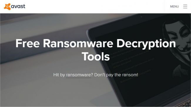 Avast Free Ransomware Decryption Tools