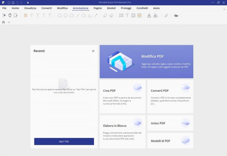 PDF Element: un ottimo editor di PDF