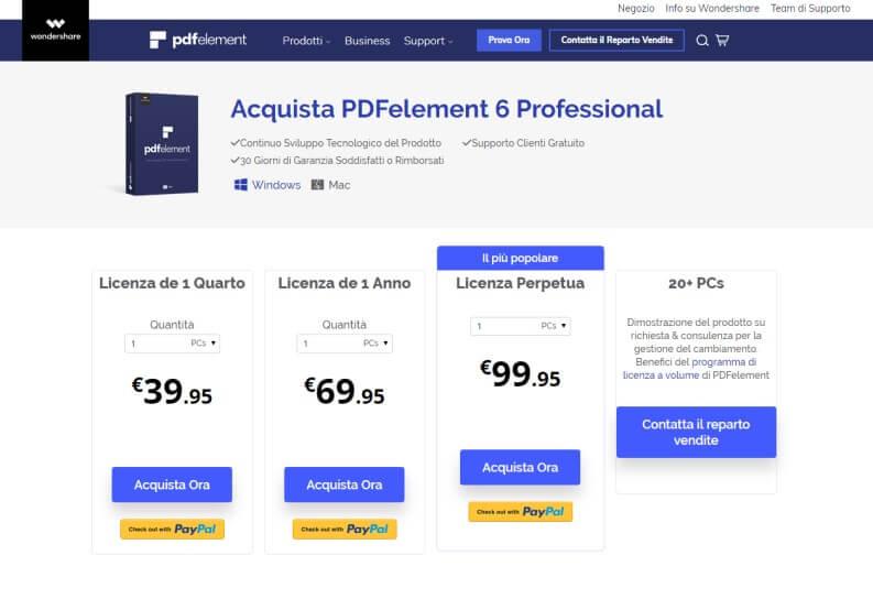 PDF Element: i prezzi