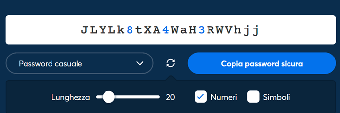 1p Generatore Password Online