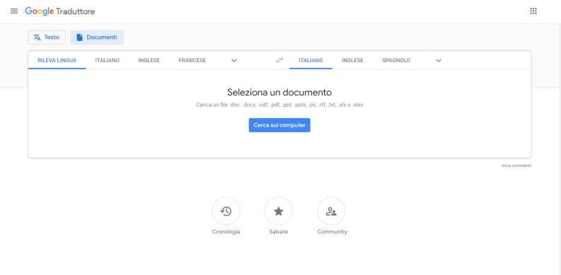 Tradurre PDF con google translate