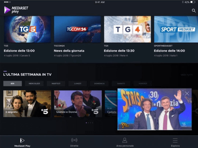 App per serie TV: Mediaset Play