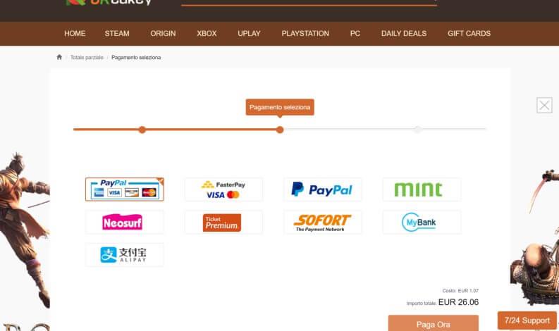 URcdkey pagamento