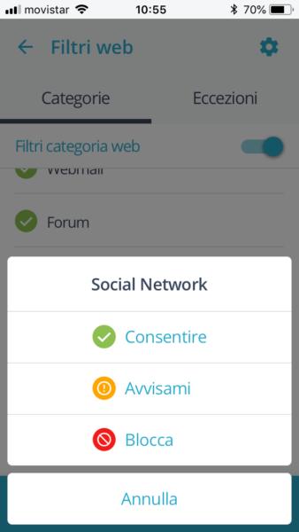 Qustodio social network