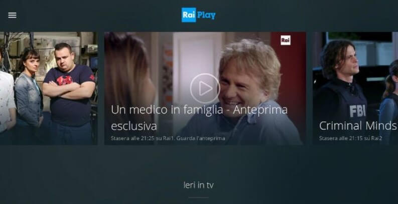 App per serie TV: RaiPlay