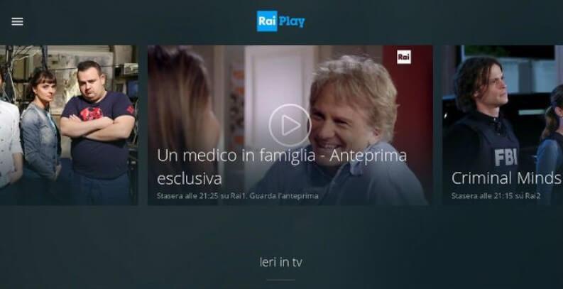 App per serie TV: RaiPlay