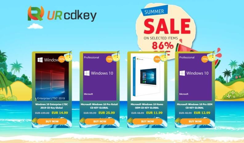 URcdkeys com: Windows 10 Pro 10€, Giochi al 70% | GiardiniBlog