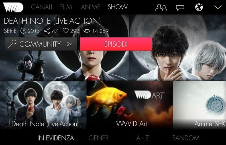 App per serie TV: VVVVID