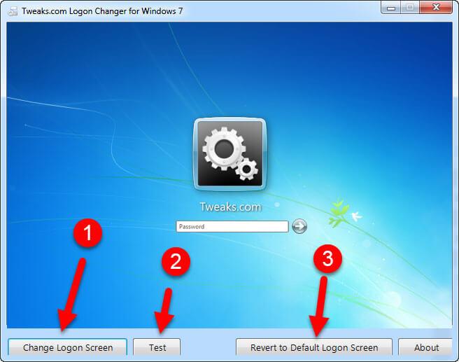cambiare schermata login