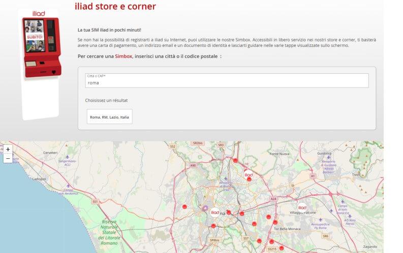 Come passare a Iliad: store e corner