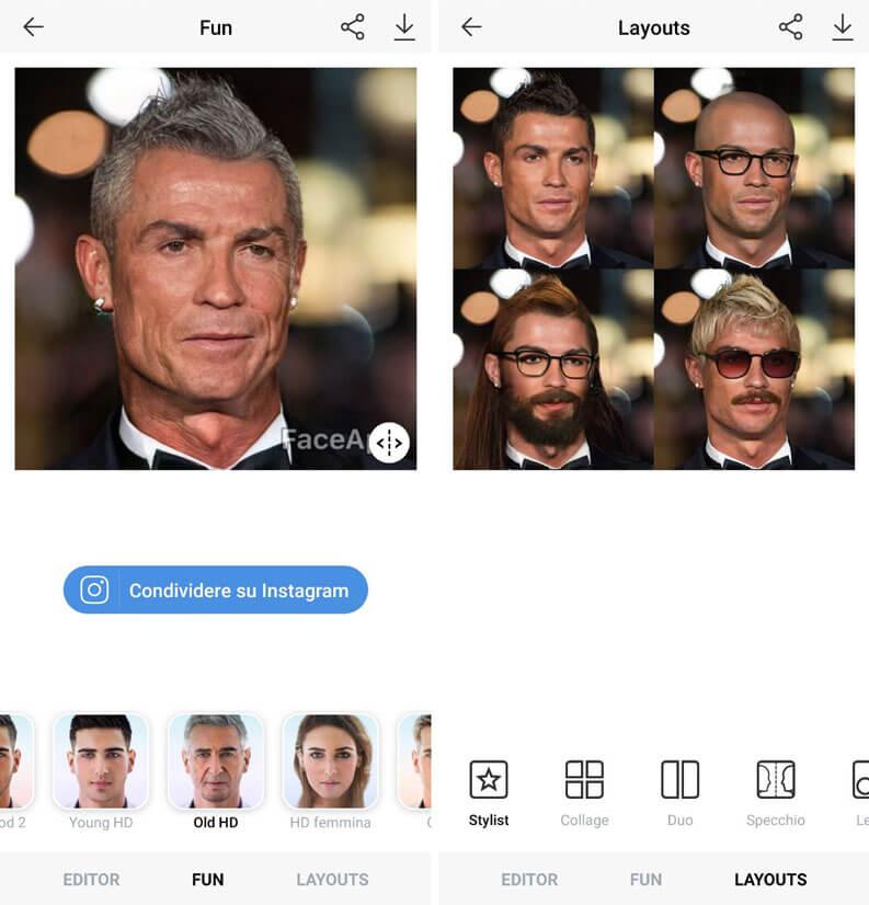 invecchiare viso cristiano ronaldo