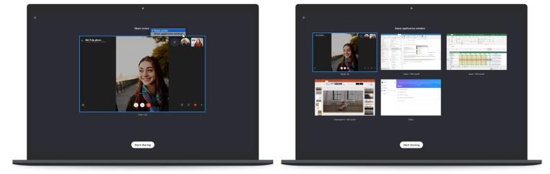 condivisione schermo skype