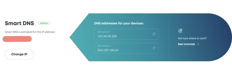 Smart DNS per proteggere ip surfshark