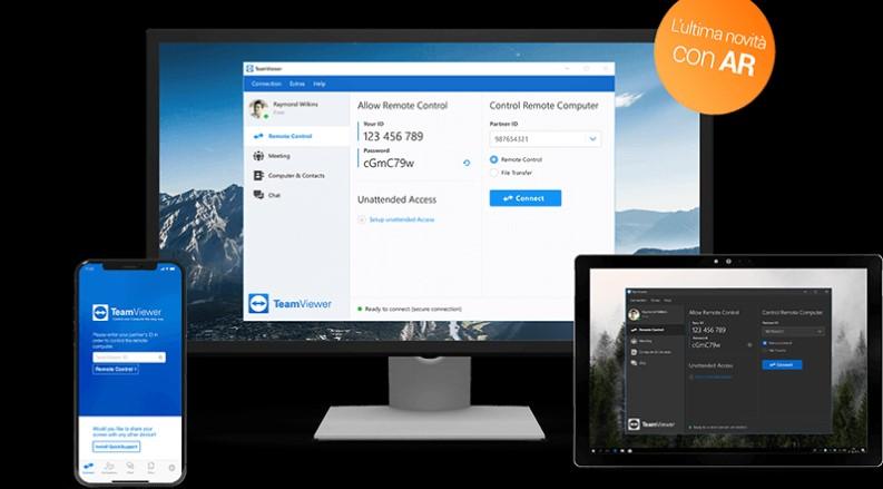 condivisione schermo tramite Teamviewer