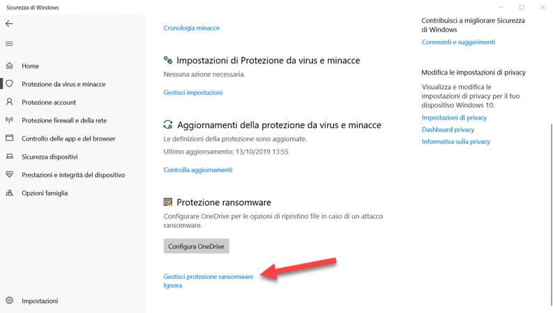 protezione ransomware