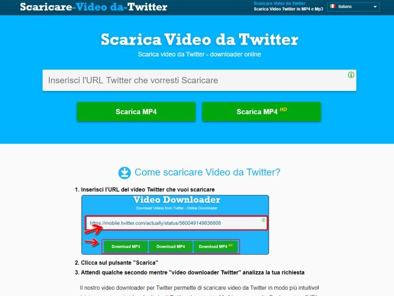 Scaricare video da Twitter su PC