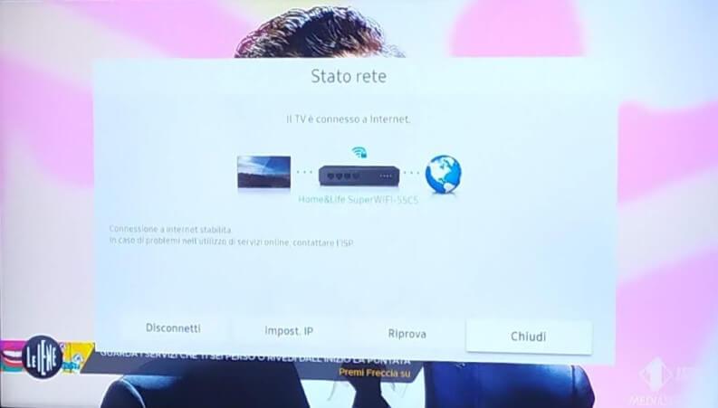 Stato rete TV Samsung