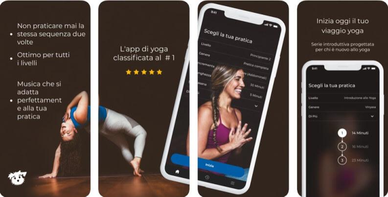 La migliore app per lo yoga