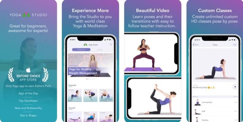 Tante posizioni per voi: Yoga studio