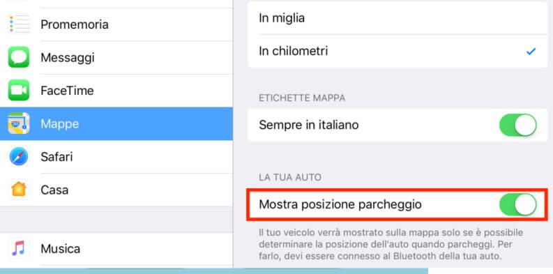 Le migliori app per localizzare auto: Apple maps